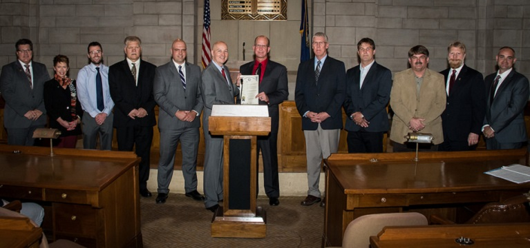 Nebraska Governor Pete Ricketts and Chapter Leaders